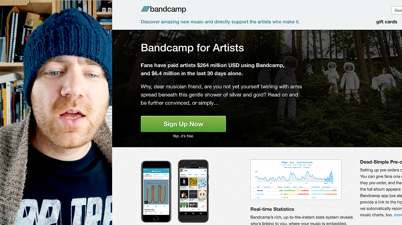 How to set up a new Bandcamp Page