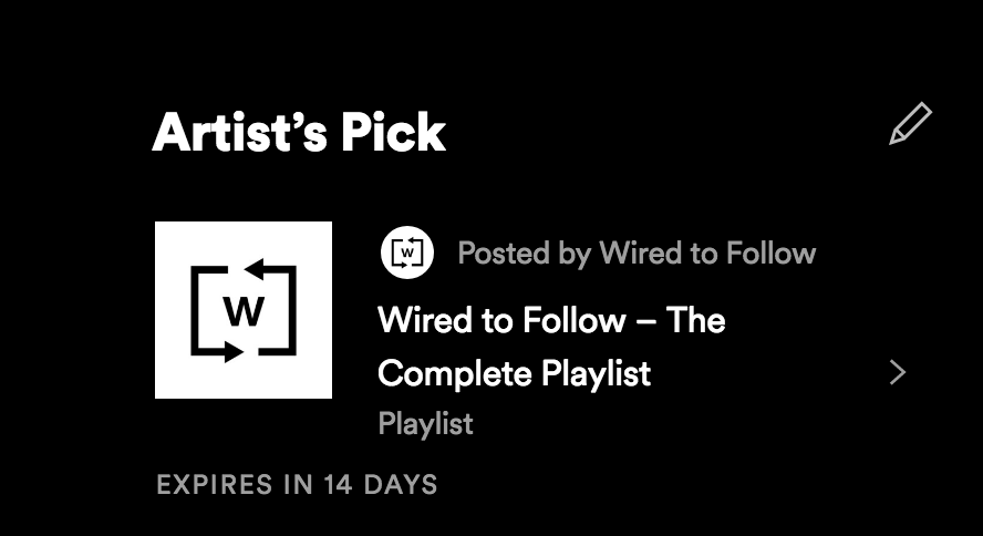 Wired to Follow Spotify Artist