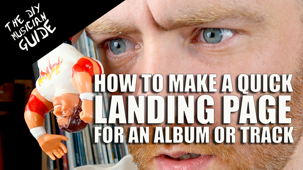 How to make a Quick Landing Page for an Album or Track with smartURL