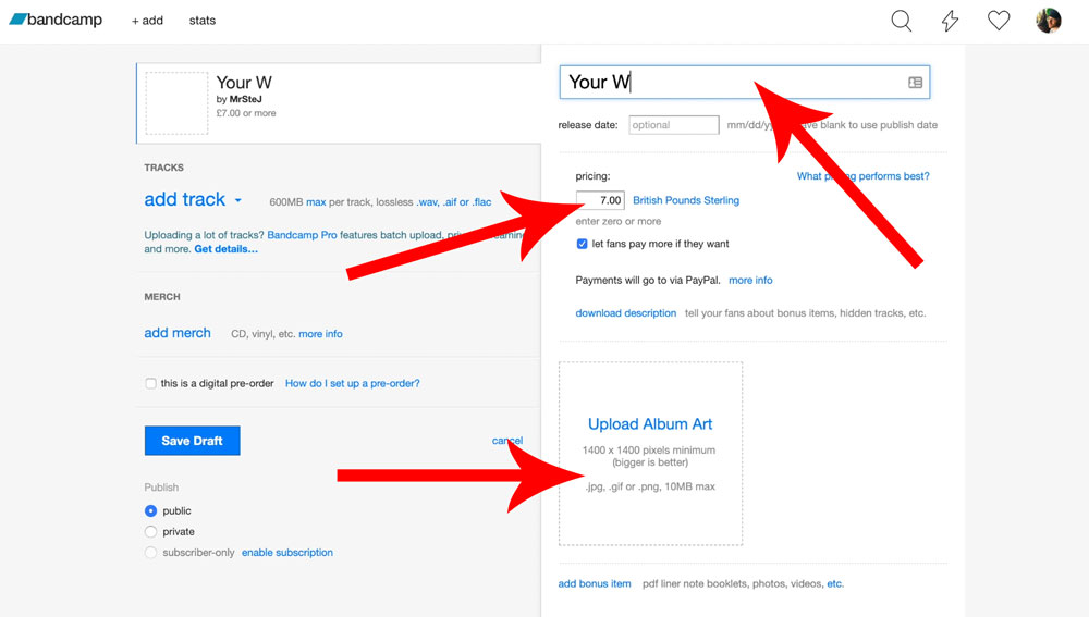 How to Upload Music to Bandcamp in 2019 - MrSteJ