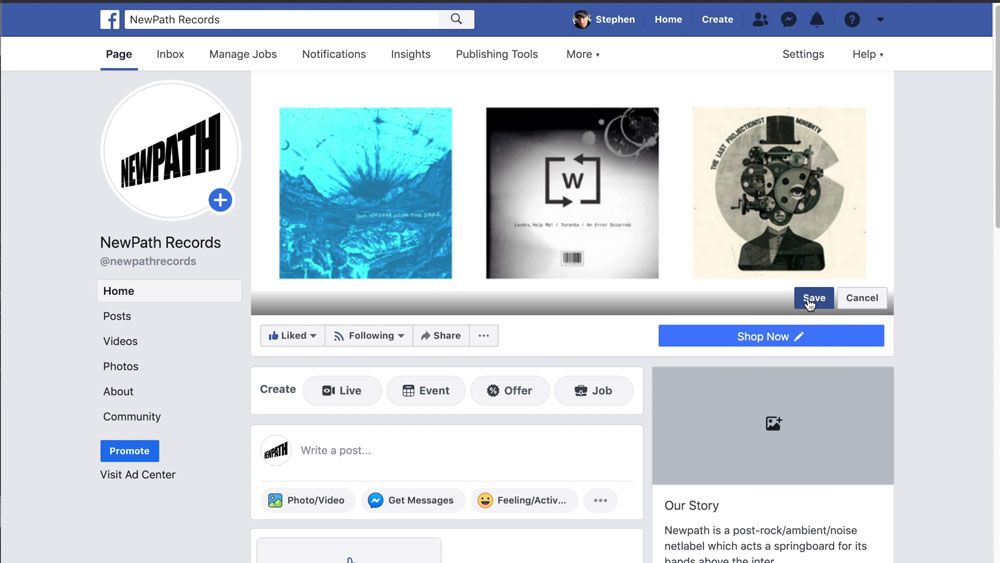 NewPath Facebook Profile