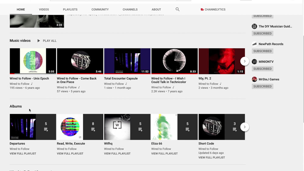YouTube Email   YouTube Official Artist Channel